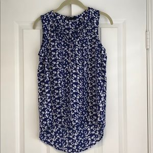 Gibson blue and white tank top blouse
